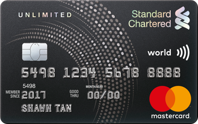 Best standard chartered credit cards in singapore credit card standard chartered unlimited cashback credit card reheart Image collections